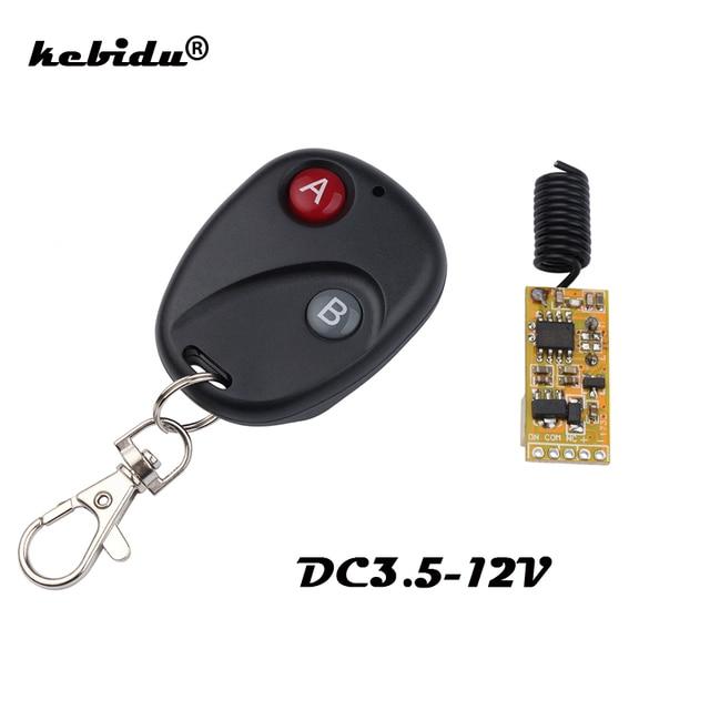 Kebidu Mini Relais Draadloze Schakelaar Afstandsbediening 3.5 12V Power Led Lamp Controller Micro Ontvanger Zender Voor Verlichting windows