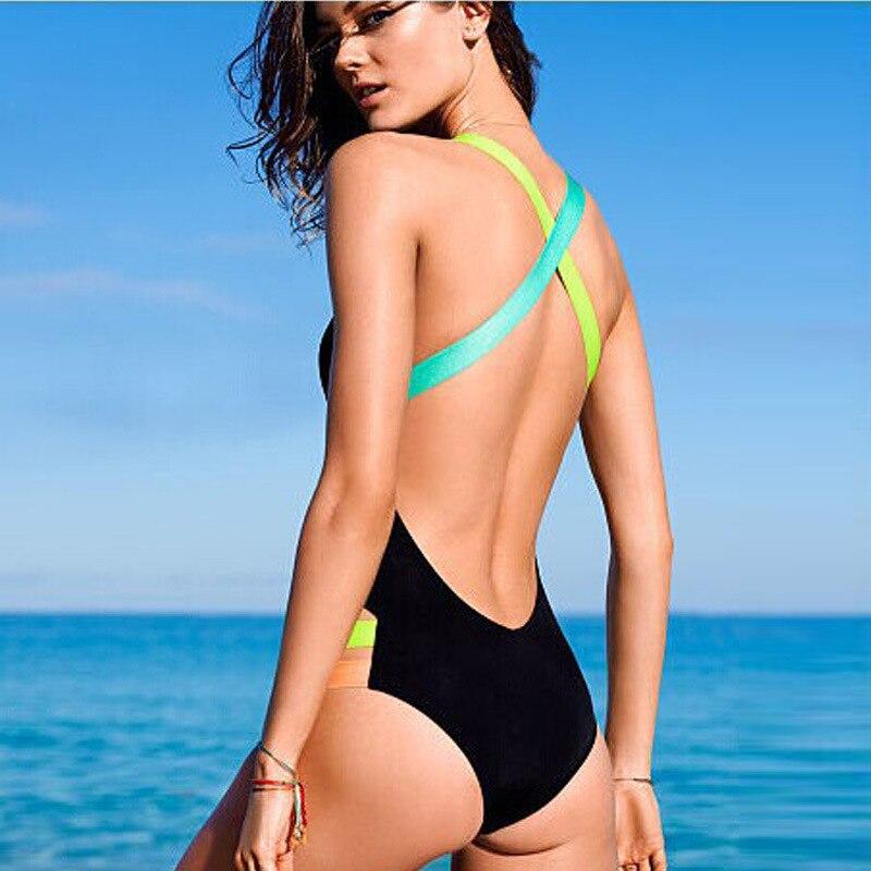 Damen Übergröße Bikini Set High Waist Padded Push Up Bademode Badeanzug Monokini