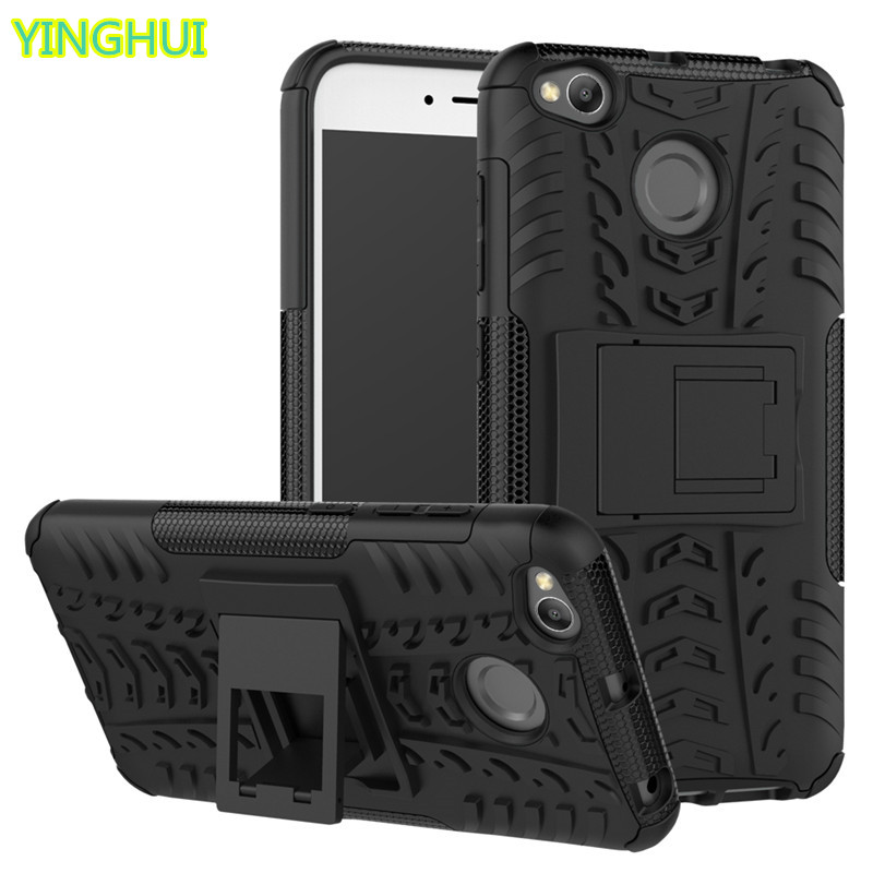 Hybrid TPU Armor Silikongummi hårt fodral för Xiaomi Redmi 4X hårt - Reservdelar och tillbehör för mobiltelefoner - Foto 1