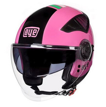 BYE Motorcycle Helmet Retro Vintage Motorbike 3/4 Open Face Half Helmet DOT Cruiser Chopper Touring Biker Cafe Racer Moto Helmet недорого