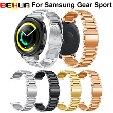 Stainless Steel Watch Band For Samsung Gear Sport Band Replacement Watch Strap For Gear Sport Smartwatch for Man&woman bracelet length adjustable strap bracelets for man women watch band style stainless steel net band christian cross prayer male jewelry