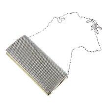 5 unids (asds cuero barniz rabat set bolso de noche monedero de la cartera con diamantes de imitación para las mujeres de la muchacha de oro