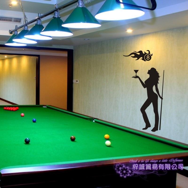 Dctal Billiards Sticker Snooker Decal Posters Vinyl Wall Decals Parede Decor Mural Billiards Sticker
