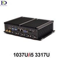 Công nghiệp Nhỏ PC Không Quạt Máy Tính với Intel Celeron 1037U i5 3317U Dual Core Hỗ Trợ Linux Windows xp, Windows7, Windows 8, 10