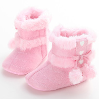 2018 Fashion Infant New Baby Shoes Newborn Winter Warm Snow Boots Shoes Girl Boy Crib Shoes Toddler Cute Pink Red White Shoes