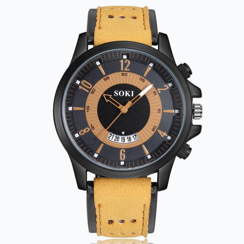 Top Fashion Casual Military Sport Men 39 s Watches High Quality Quartz Clock Analog Wristwatch Erkek Kol Saati Relogio Masculino in Quartz Watches from Watches