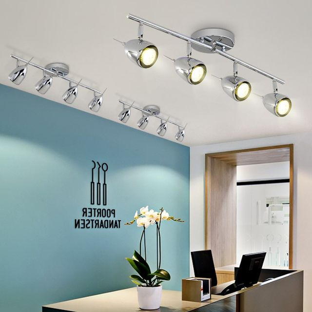 Long Pole Clothing Shop Spotlight LED Track Spot Light Led Cafe Bar  Background Wall Spotlight Living Room Retro Lights