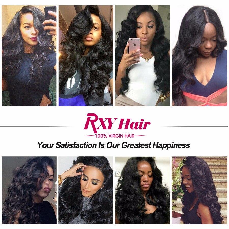 RXY Indian Haar Body Wave Haarbundels 100% Remy Menselijk Haar Weave - Mensenhaar (voor zwart) - Foto 5