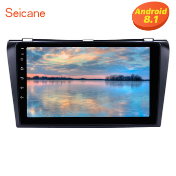 "Seicane 9"" 2din Android 8.1 Car Radio Bluetooth Wifi GPS Multimedia Player Head Unit For 2004 2005 2006 2007 2008 2009 Mazda 3"