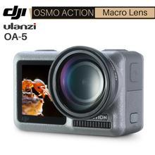 Ulanzi OA 5 15X obiektyw makro do Dji Osmo Action HD 4K szkło optyczne zewnętrzny Osmo akcja obiektyw makro akcesoria