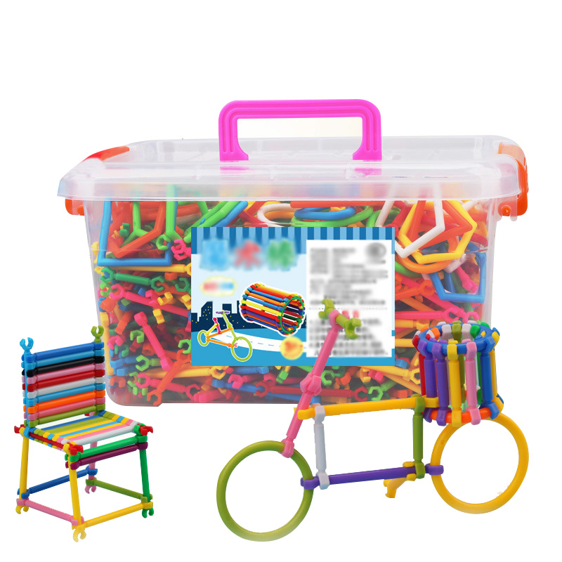 ФОТО 370pcs Building Block Strick And Geometry Block Kids Toys Car Styling Constructor Educational Toy