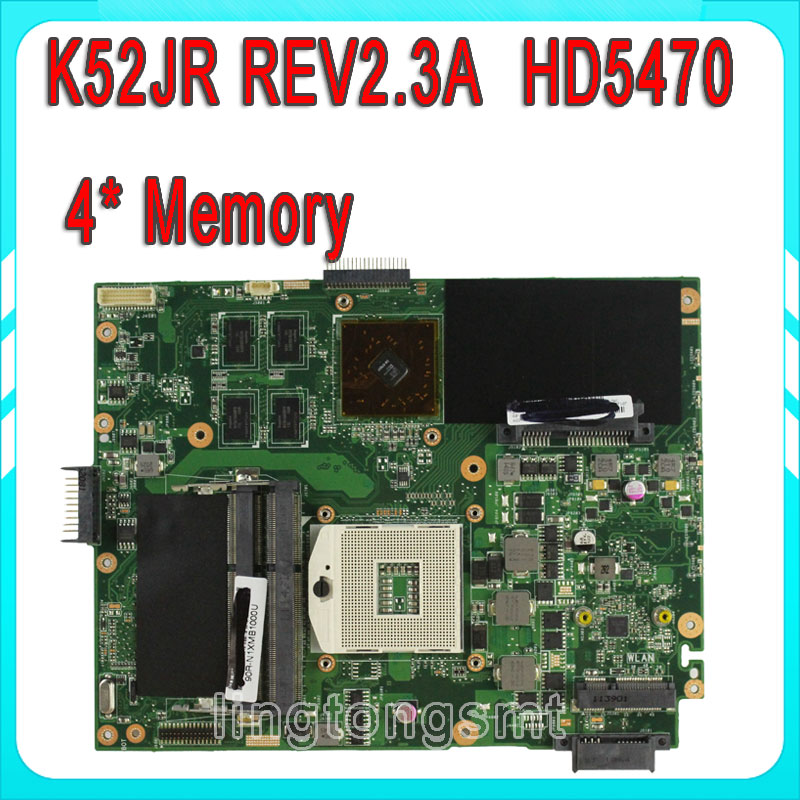 Hot sale K52JR K52J A52J K52JC A52J K52JT 4 pcs of storage Laptop Motherboard 100% tested perfect & free shipping  for asus k52jb a52j k52jr k52je k52j 4 pcs on storage laptop motherboard rev2 3 mainboard free shipping