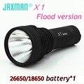 Jaxman X1 flood version CREE XML2/XHP50 26650/18650 LED flashlight torch Hunting