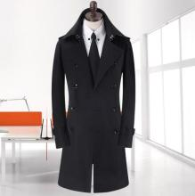 Men's clothing plus size spring and autumn long trench coats mens design new arrival black double breasted coat men outerwear