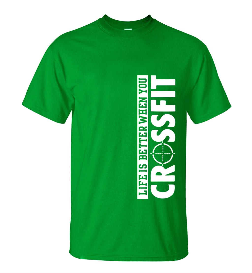 ALI shop ...  ... 32793807814 ... 4 ... Life Is Better When You Crossfit T Shirt 2019 Summer New Fashion Men 100% Cotton Comfortable fitness t-shirt loose fit top tees ...