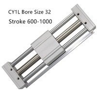 CY1L CY1L32 RMTL Magnetically Coupled Rodless SMC Air Cylinder CY1L32 600 CY1L32 700 CY1L32 800 CY1L32 900 CY1L32 1000