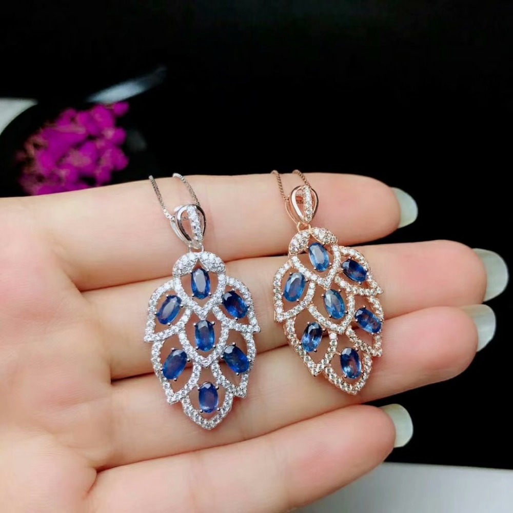 shilovem 925 silver sterling real Natural sapphire PENDANTS fine Jewelry trendy send necklace plant 3*5mm plant yhz030501agl shilovem 925 silver sterling real Natural sapphire PENDANTS fine Jewelry trendy send necklace plant 3*5mm plant yhz030501agl
