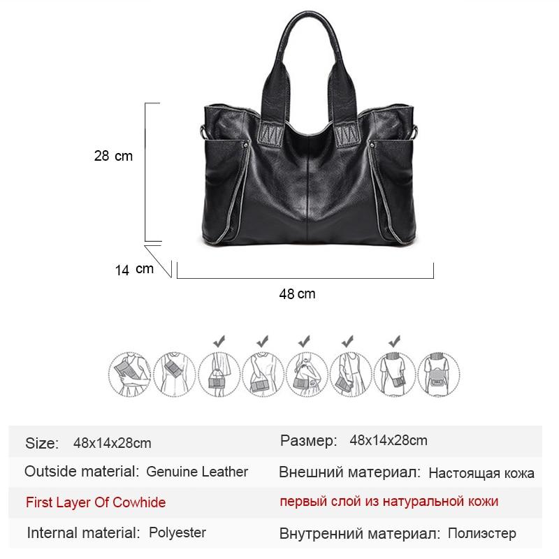 2018 Ladies Large Capacity HandBags Popular Big Tote Bags Women Top - Beg tangan - Foto 6