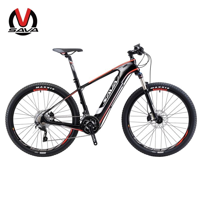 sava electric bicycle carbon fiber e bike 27 5 mountain. Black Bedroom Furniture Sets. Home Design Ideas