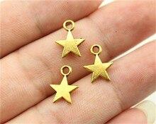 WYSIWYG 40pcs 11x8mm Star Charms Lot For Jewelry Making Tiny Star Charm Star Charm For Jewelry Making