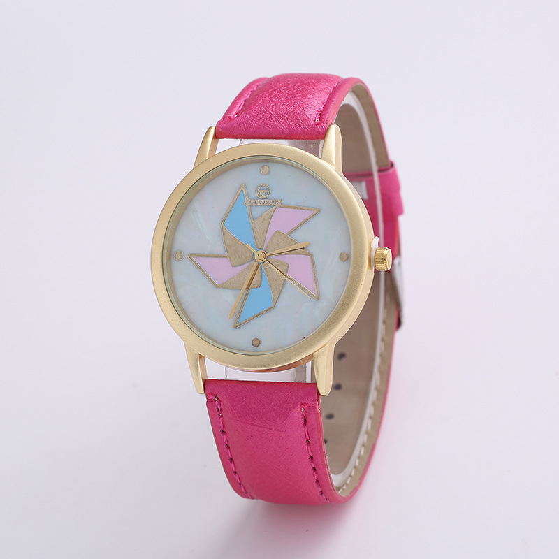 Windmill Watch Shell Literal Waterproof Watchband Sand Gold Shell Unique Style Girls Watch