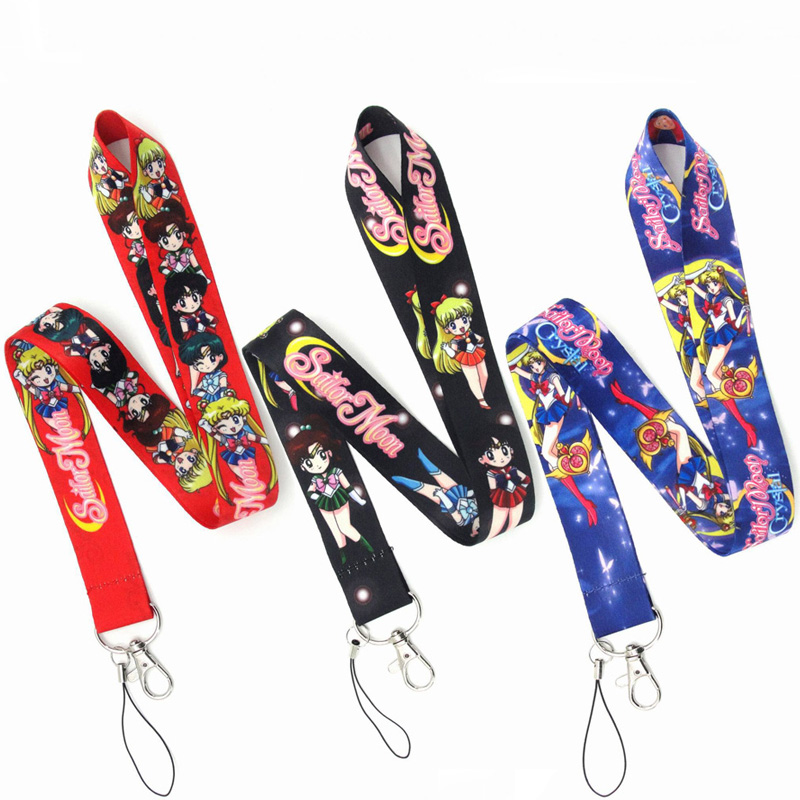 Anime Sailor Moon Cosplay Props Key Strap Lanyards Unisex Boy Girls Phone Accessories 3/style