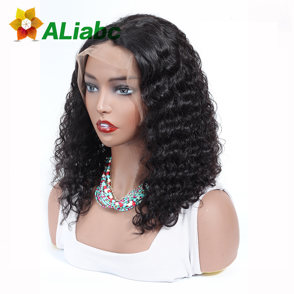 Aliabc 13 4 Bob Wigs Peruvian Lace Front Human Hair Wigs For Black Women Natural Color