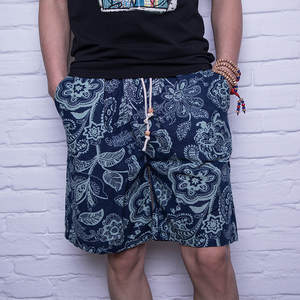 Beach-Shorts Hip-Hop Floral-Printed Outdoors Male Plus-Size Summer Camouflage Casual