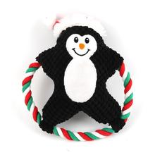 New Pet Plush Toy Dog Vocal Cartoon Cotton Rope Christmas Molar Bite Venting