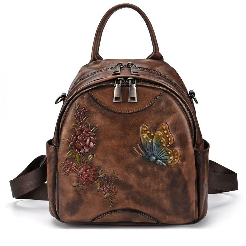 3 D Printing Vintage Women School Backpack Bags Royal Butterfly Middle Women Shoulder Bags Ladies Travel Bags in Backpacks from Luggage Bags