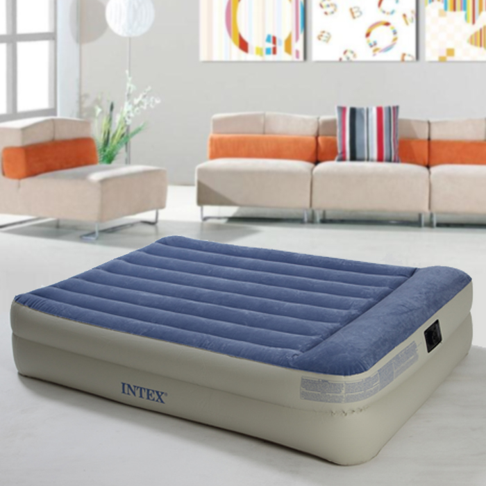 New double layer built-in pillow inflated mattress air cushion bed thickened charging bed Built in electric pneumatic pump new arrival blue color air mattress alternating pressure pump pad medical bed overlay hospital fit for patient