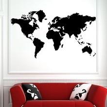 Hot Sale Large World Map Global Atlas Vinyl Art Wallpaper Tattoos Sided Visual Pattern Home Decor Y-255