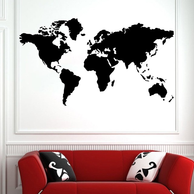 Aliexpress buy hot sale large world map global atlas vinyl art hot sale large world map global atlas vinyl art wallpaper tattoos sided visual pattern home decor gumiabroncs Choice Image