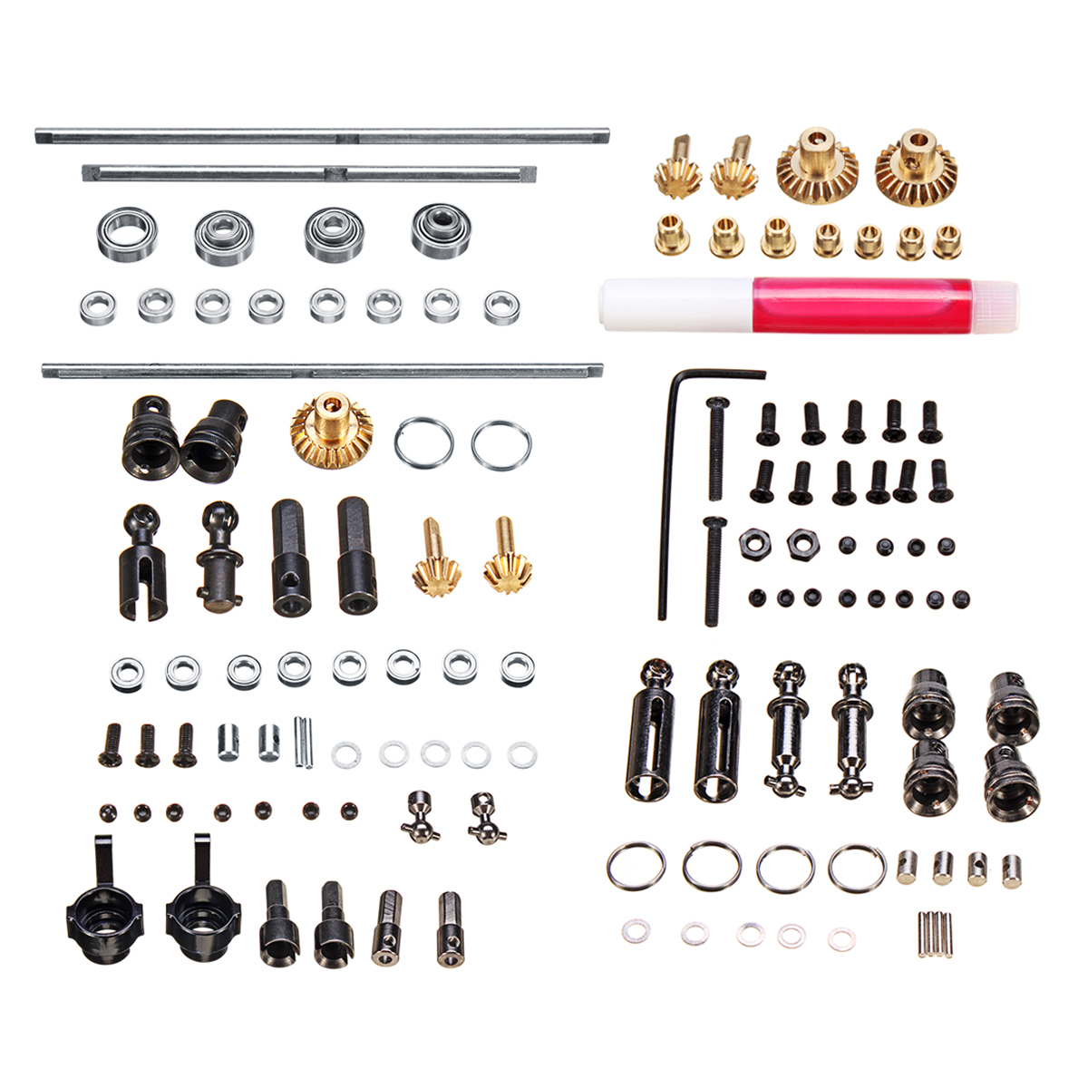 цена на Upgrade Metal OP Accessory Set DIY Spare Parts For WPL 1/16 6WD RC Car Military Truck Easy to Install Durable Metal & Plastic