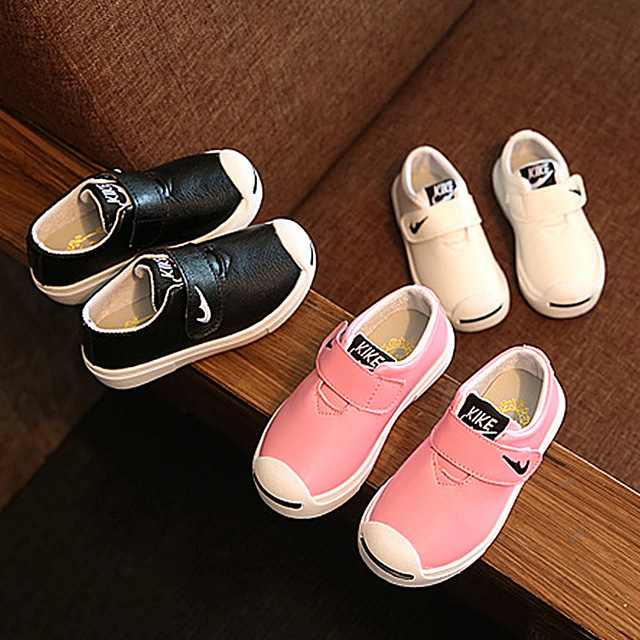Boys and girls Leisure leather shoes 1-12-year-old child to weartenis sapato infantil