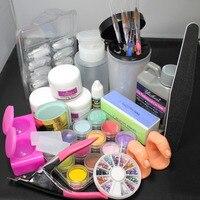 Pro UV GEL Nail Art Kit Cutter Sanding Buffer French Nail Art tools Tip Kit False Nail Set #1643