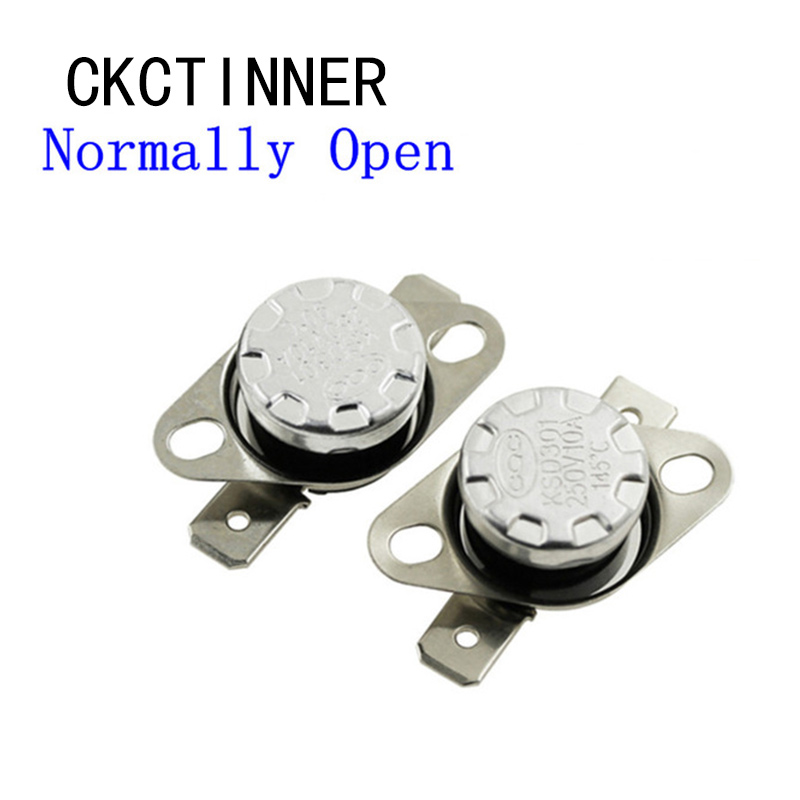 1pcs 10A 250V 40-130 degree KSD301 Normally open Temperature Switch Thermostat 40 45 50 55 60 65 70 75 80 85 90 95 <font><b>100</b></font> <font><b>110</b></font> 120 image