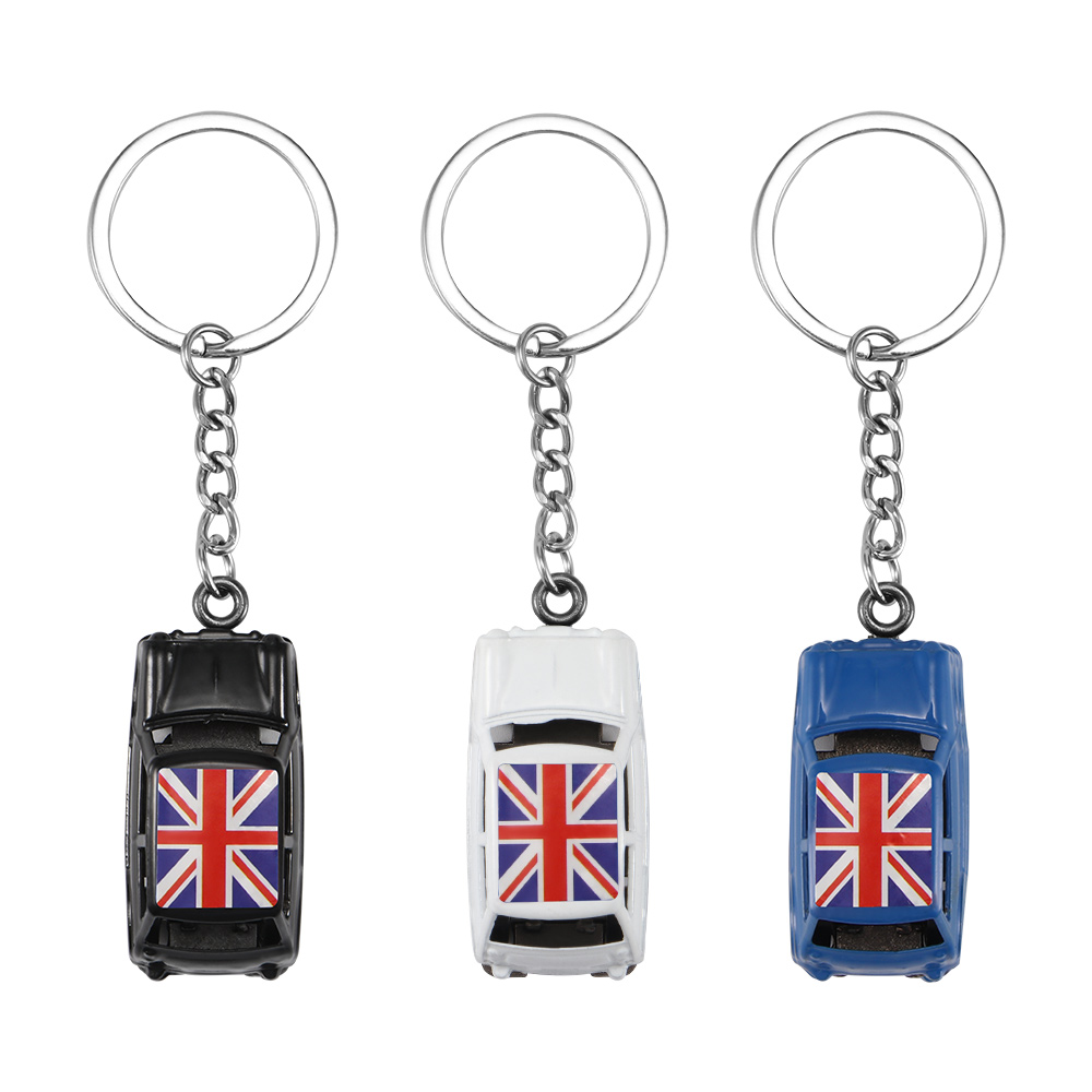 Fashion Black Leather Strap Metal Key chain car Key Ring KeyChain 019