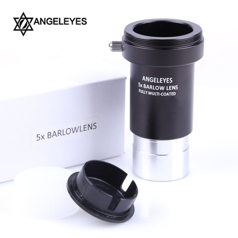 Barlow Lens 5X 3X Telescope Eyepiece for Astronomy 1.25 Inch Multi-coated