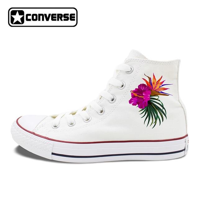 Womens Skateboarding Shoes Canvas Floral Flower Watercolor Sport Sneaker