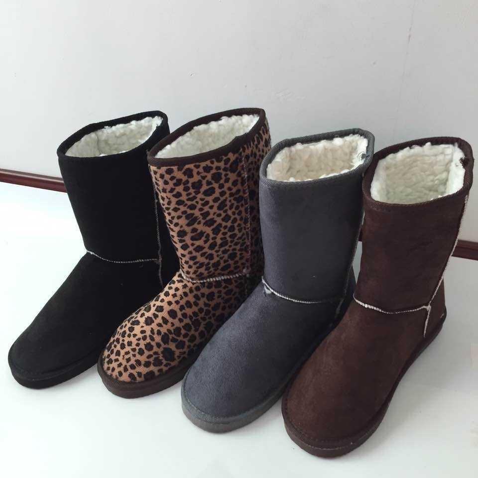 YESHITOP ยี่ห้อ 2019 แฟชั่น 24 ซม.ฤดูหนาวรองเท้าผู้หญิงแบนรองเท้าบูท botas de neve & Beige,สีดำ, สีเทา,กาแฟ,ชมพู,