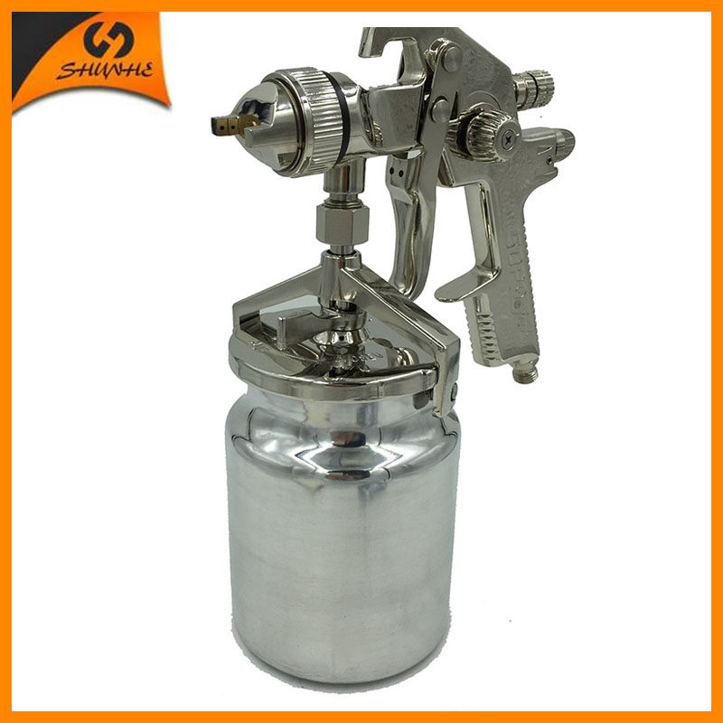где купить AB-17S pneumatic paint guns automotive chemical spray guns pot paint 1000ml professional auto paint gun airbrush hlvp paint tank по лучшей цене