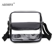 Women Shoulder Crossbody Handbags Square Messenger Transparent PVC Totes Ladies Casual Shopping Small