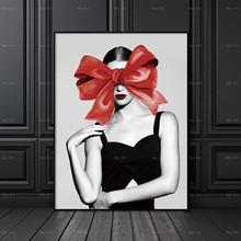 Pictures for Wall Art Posters and prints Portrait Abstract Painting Frameless printing Women Home Decor Picture