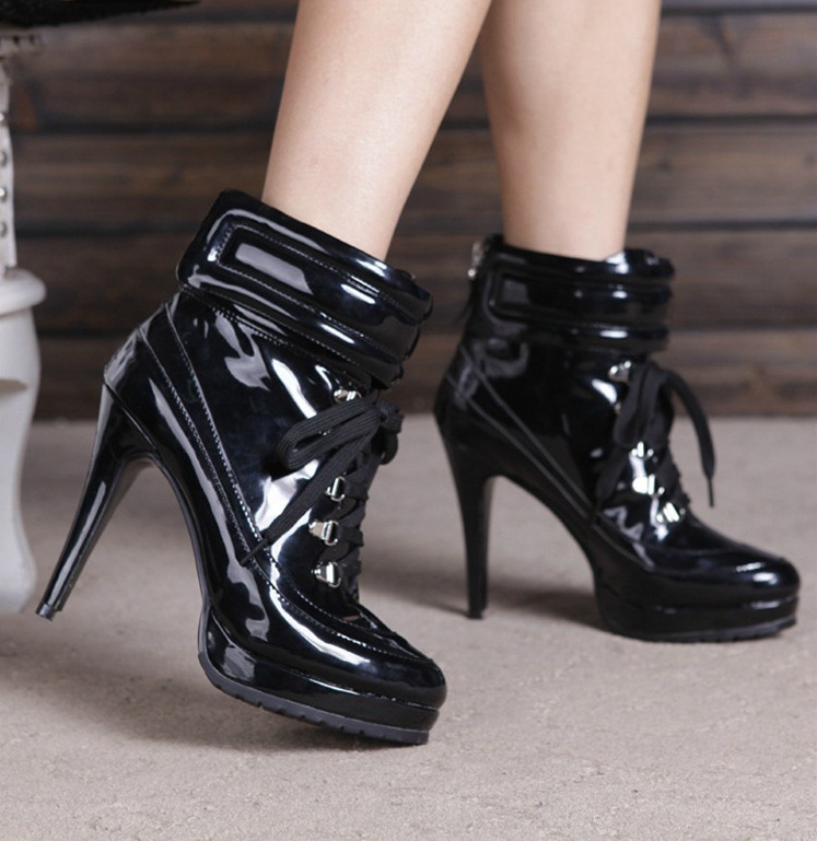 цены на Women Shoes Luxury Newest Fashion Cheap Price Hot Sale Ankle Cross-tied High Heels Platform Lace-up Black/Silver Gladiator в интернет-магазинах