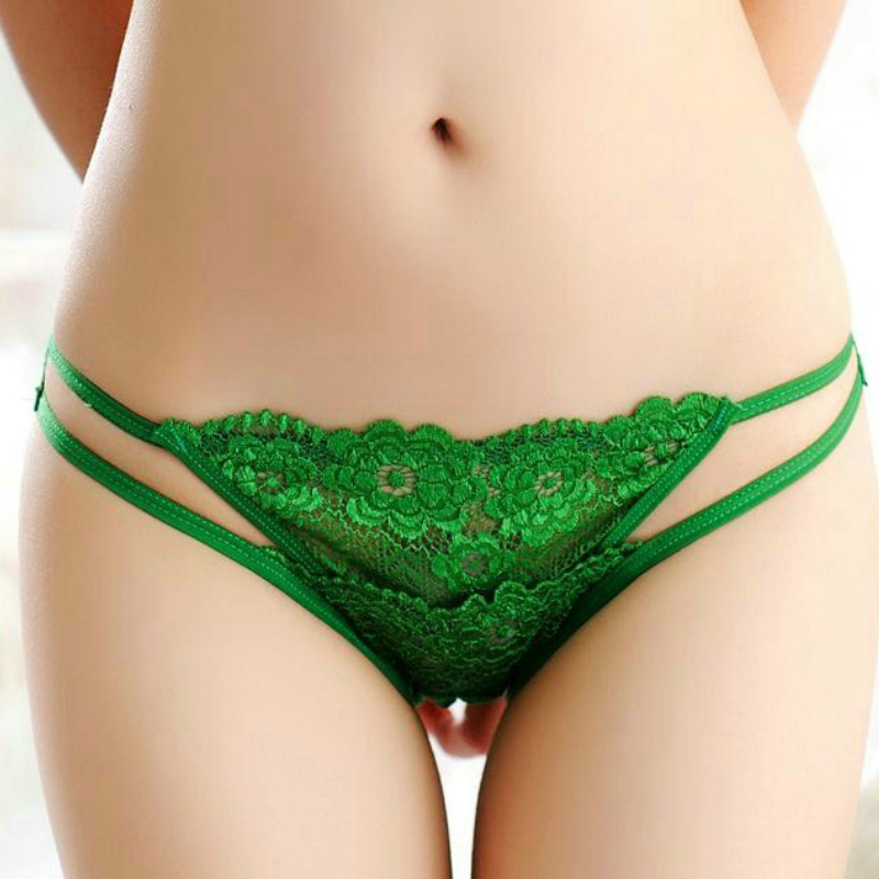 Hollow Cotton Breathable Lace String Sexy Panties Women Underwear Thongs Bragas T Word Pants Briefs Cute Mujer Lingerie 3pcs/Lot