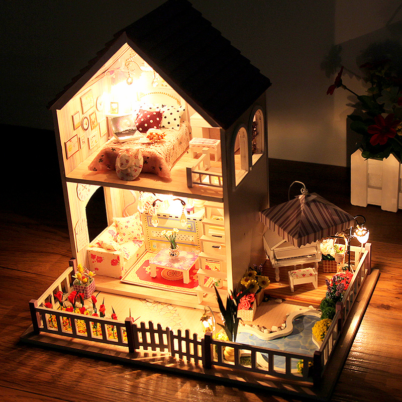 Sakura Villa Puzzle House Model Children S Toys Boys Gift Diy Jigsaw Toy Gifts For Kids In Puzzles From Hobbies On