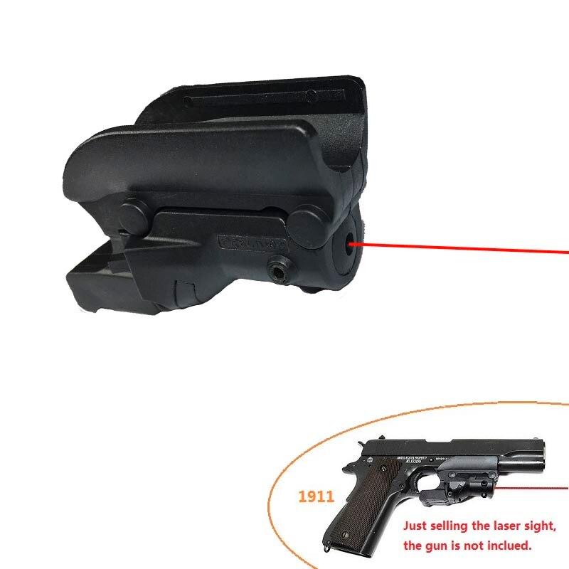 Prix pour NOUVELLE Tactique Red Dot Laser Sight 5 mw Laser pour Pistolet/Pistolet gun laser pointeur pour 1911 Pistolet pour chasse livraison gratuite