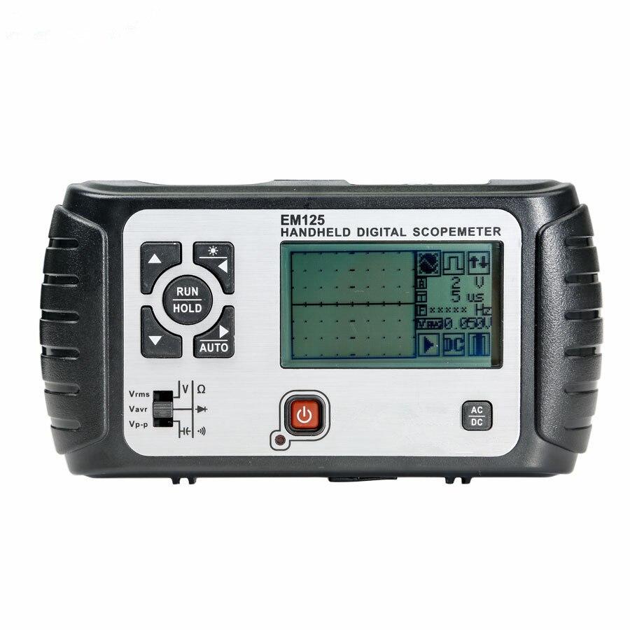 все цены на Hot Sale Digital 2in1 Handheld Portable Oscilloscope+Multimeter25MHz 100MSa/s Single Channel Waveform USB LCD Backlight EM125 онлайн