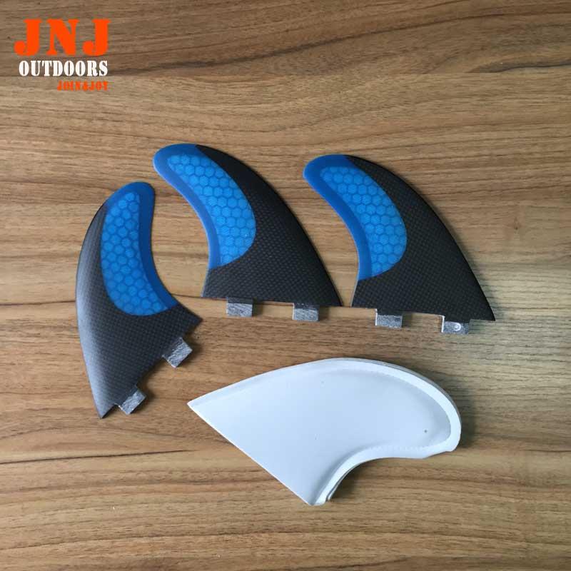 BLUE कार्बन FCS G7 सर्फ पंख / सर्फबोर्ड पंख fcs / कार्बन सर्फ पंख / भविष्य के पंख शीर्ष गुणवत्ता के साथ